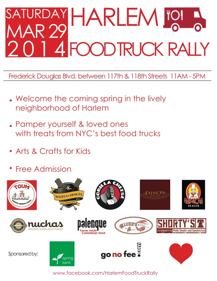 HARLEM FOOD TRUCK RALLY [MARCH 29 11AM-5PM]